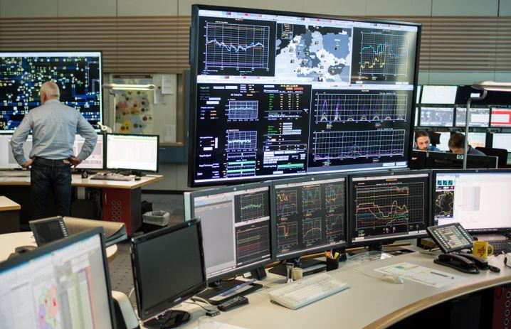Schaltleitung des Stromnetzbetreibers Tennet bei Hannover