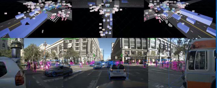 Screenshot: So sieht ein Zoox-Roboterauto seine Umwelt
