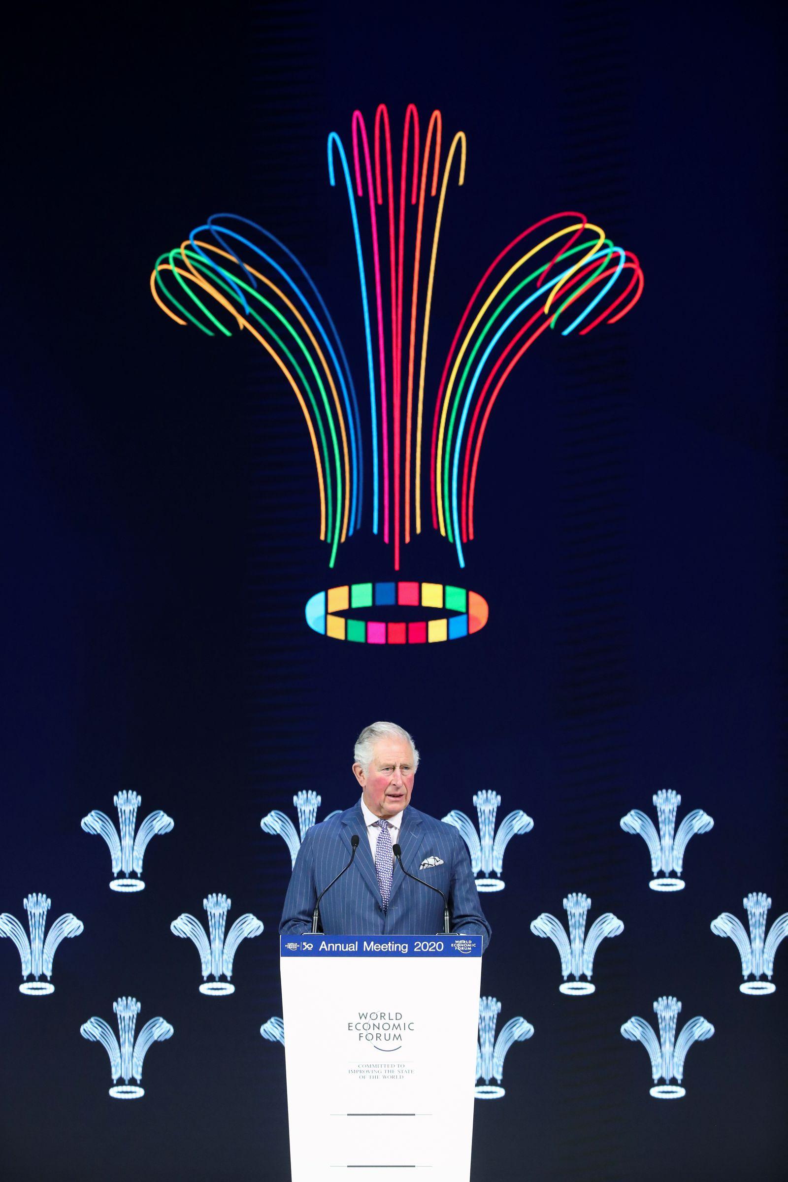 Britains Prince Charles / Davos