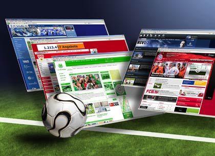 Wundertüte Webpräsenz: Fußball-Bundesligisten bieten im Netz zum Beispiel eigene TV-Sender oder Live-Ticker an