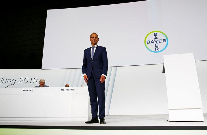 """""""Bayer wird Bayer bleiben"""": Mit seiner optimistischen Welt- und Unternehmenssicht steht Bayer-Chef Werner Baumann derzeit ziemlich alleine da"""