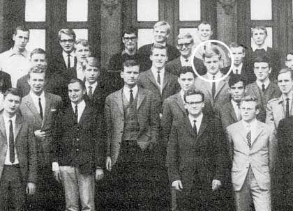 Startschuss: Wenning (Kreis) im April 1966 mit Lehrlingskollegen