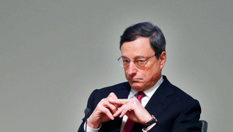 Hat er es übertrieben: EZB-Chef Mario Draghi, hier auf einer Aufnahme aus dem Februar dieses Jahres.