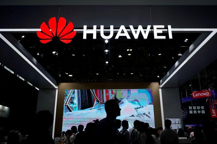 Huawei-Stand auf einer Messe in Asien.