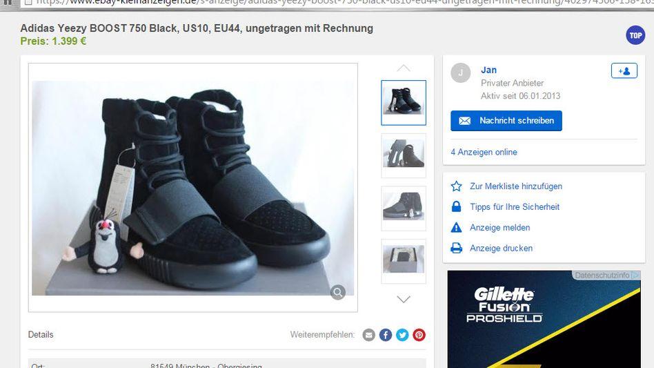 Anzeige auf Ebay Kleinanzeigen