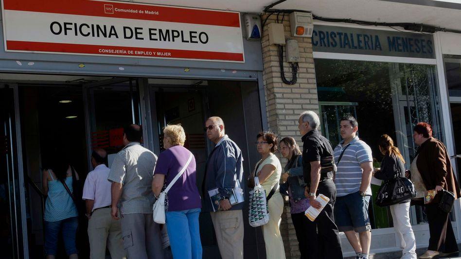 Arbeitssuchende in Spanien: Vor allem die Jugendarbeitslosigkeit ist dramatisch hoch