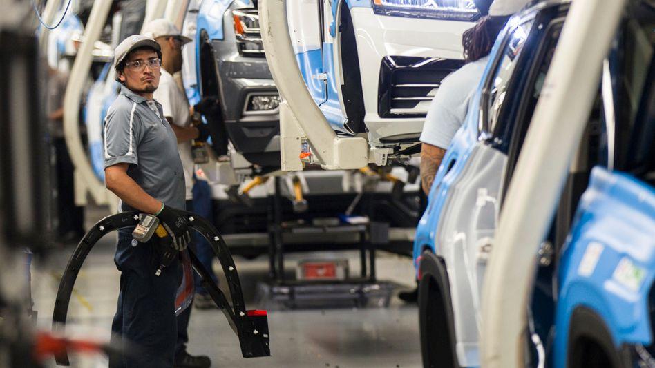 VW-Werk in Chattanooga, Tennessee: Hier will der Konzern schon ab 5. April wieder die Bänder laufen lassen