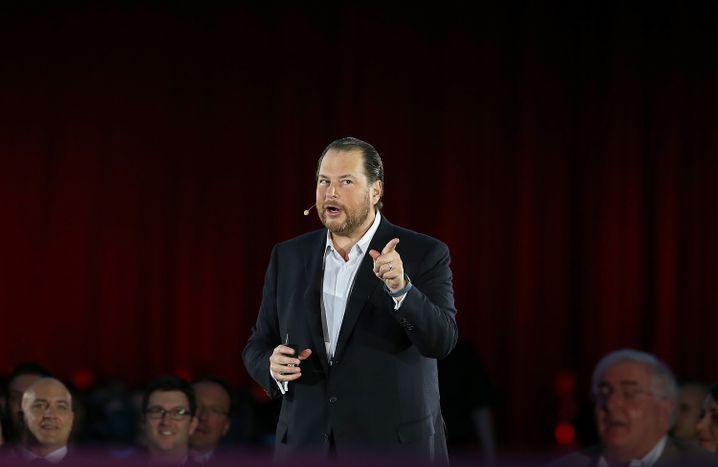 Angriffslustig und bestens bezahlt: Salesforce-CEO Marc Benioff