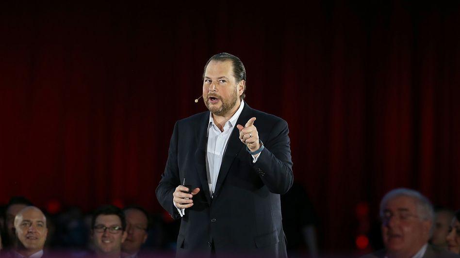 Will die Marktführerschaft im Cloud-Computing verteidigen: Salesforce-Chef Benioff