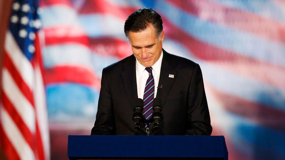 """Mitt Romney: """"Ich habe mir so sehr gewünscht, eure Hoffnungen zu erfüllen, das Land in eine andere Richtung zu führen"""""""
