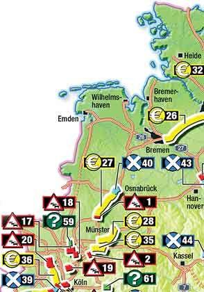 Baustopps auf der A7 bei Hannover (43): Der Ausbau der Anschlussstelle Altwarmbüchen und des Autobahnkreuzes Hannover-Ost (für die Fußball-WM) stehen auf der inoffiziellen Streichliste des Bundesverkehrsministeriums