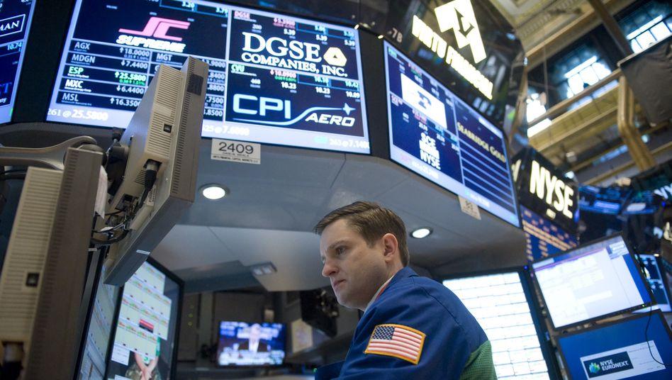 Börse an der Wall Street: Nach Börsenschluss wird der Aluminiumhersteller Alcoa den Startschuss für die Bilanzrunde geben