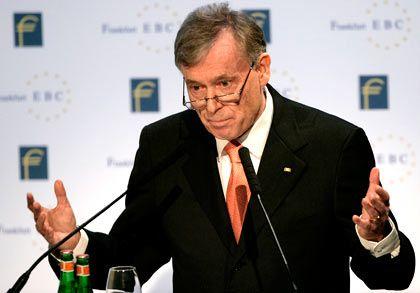 Bundespräsident Köhler: Redet den Topbankern ins Gewissen