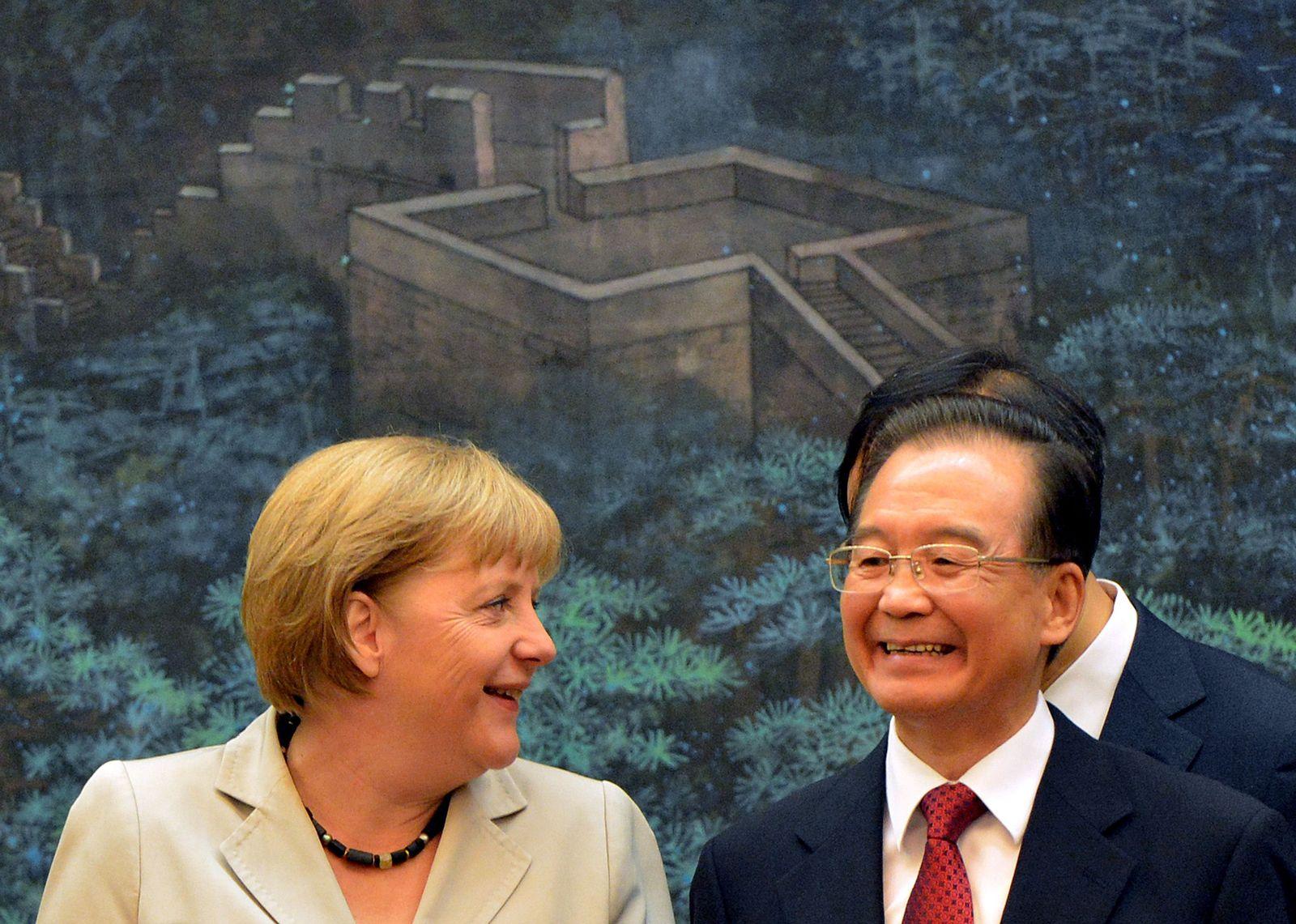 Angela merkel Wen Jiabao