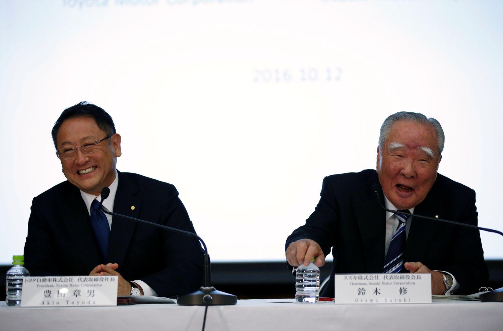 Akio Toyoda und Osamu Suzuki