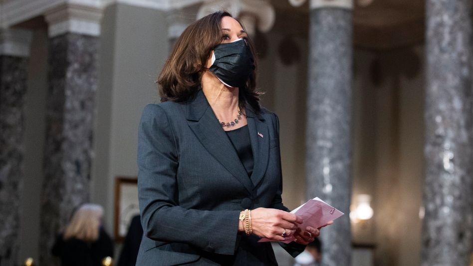 Entscheidende Stimme: US-Vizepräsidentin Kamala Harris hat das Patt zwischen Demokraten und Republikanern aufgehoben