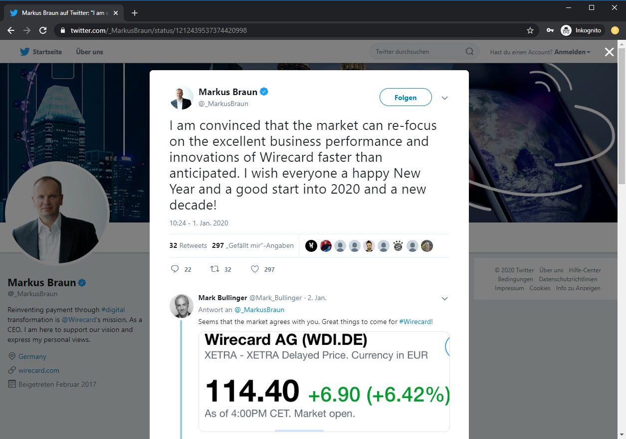 Wirecard Kpmg-Bericht Termin