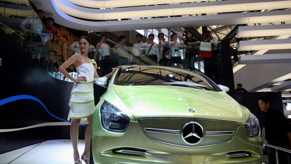 Mercedes-Benz Präsentation auf der Automesse in Shanghai: Auch die Chinesen haben gesteigertes Interesse an einem größeren Aktienpaket