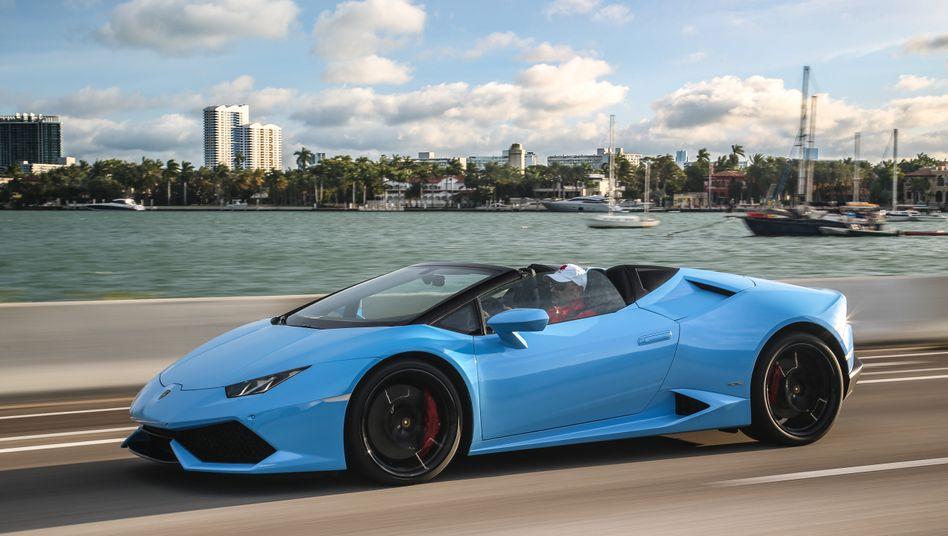 Lamborghini Huracan (Symbolbild): NRW hat mit dem Verkauf zweier Boliden die Landeskasse aufgebessert.