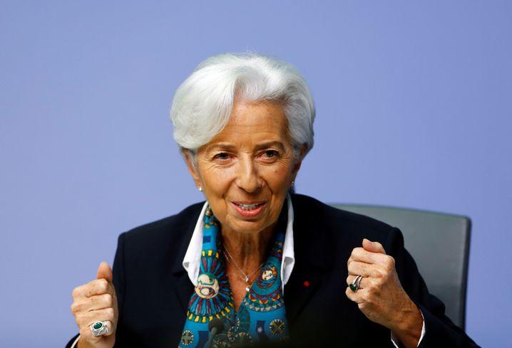 Neuer Style, alter Stil: Christine Lagarde heute auf ihrer ersten Pressekonferenz im EZB-Tower.
