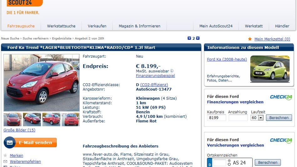 Kaufen und verkaufen: Der Springer-Verlag hat ein Auge auf das Online-Portal Autoscout24 geworfen