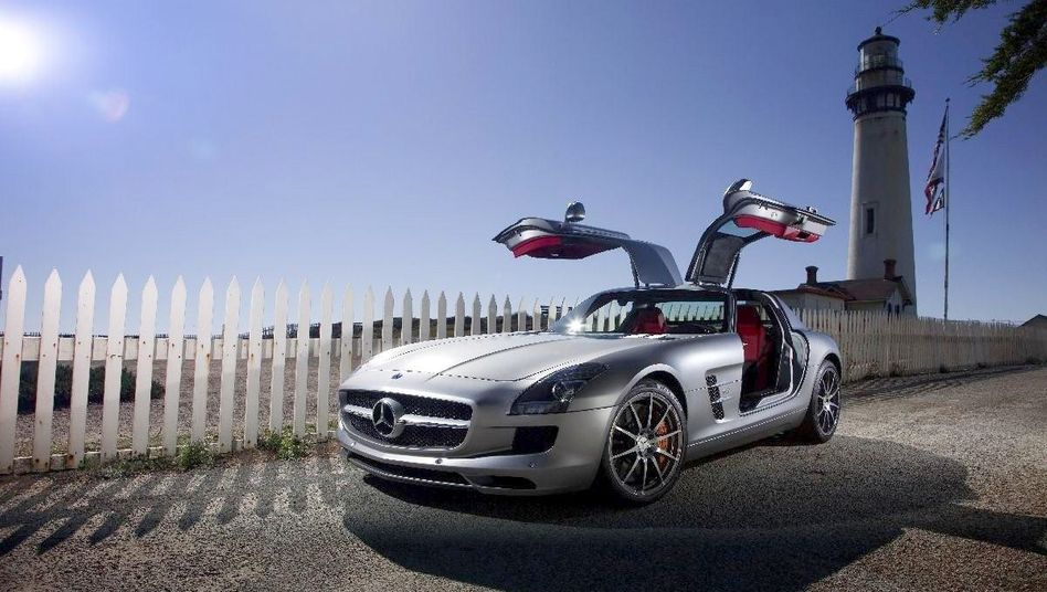 Mercedes SLS AMG: Der mondäne Sportwagen von Mercedes gehört auch zu den 25 prämierten Objekten. Das Auto erhält den deutschen Designpreis in Gold