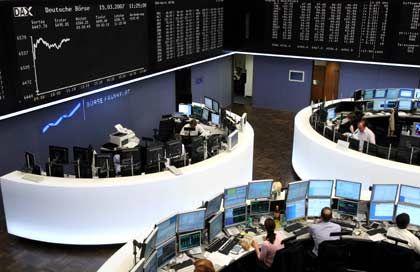 Gut eingeführt: Der neue Börsensaal für den Parketthandel in Frankfurt