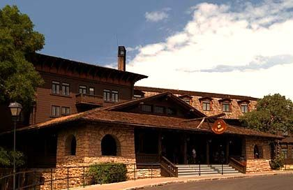 El Tovar Lodge: Aufwändige Natursteinmauern