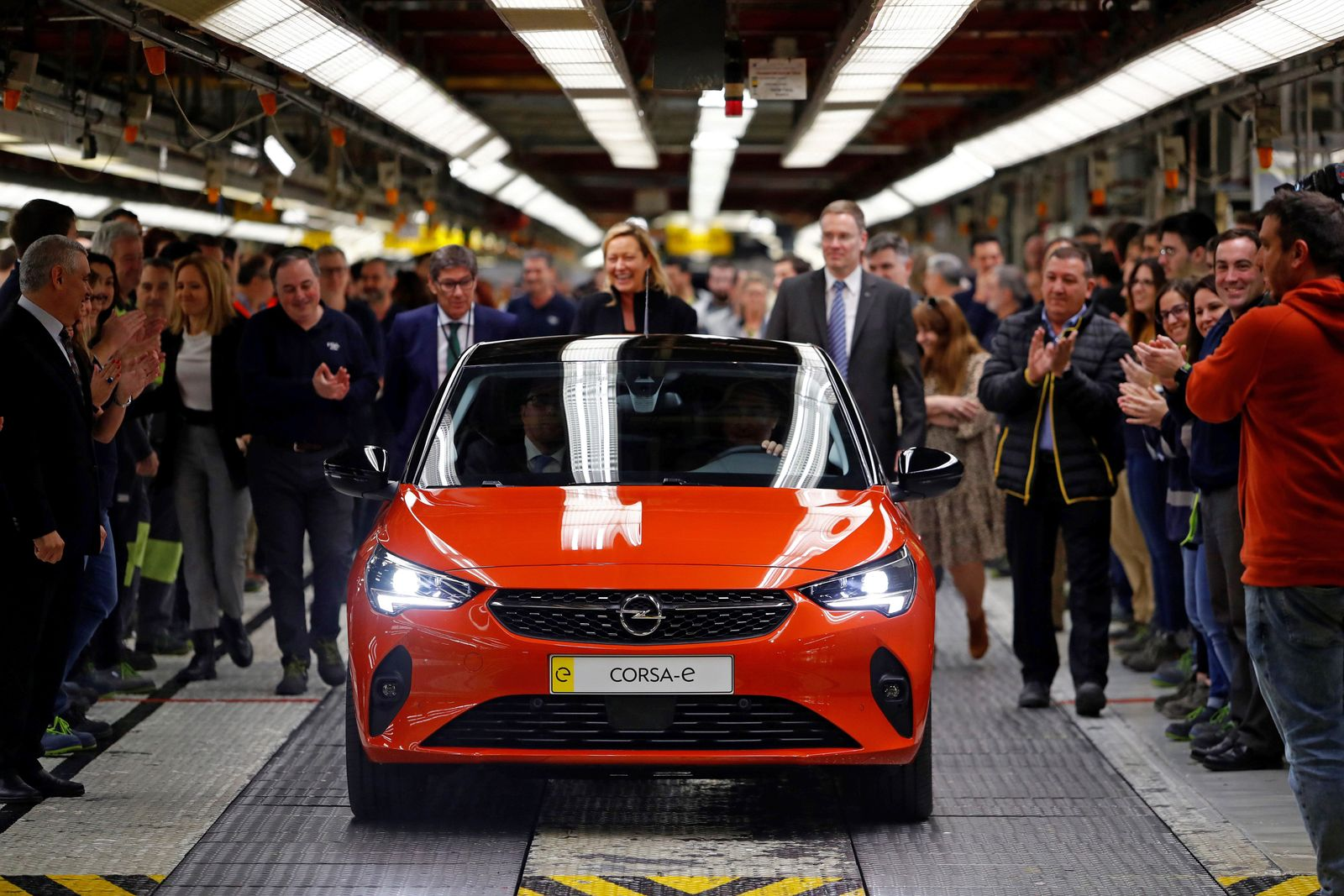 Launching of Opel Corsa-e, Figueruelas Zaragoza, Spain - 21 Feb 2020