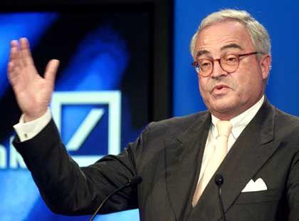 Muss nicht vor Gericht: Deutsche-Bank-Chef Rolf E. Breuer