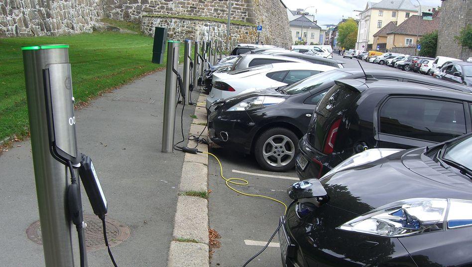 E-Auto-Ladestation in Oslo (Norwegen)