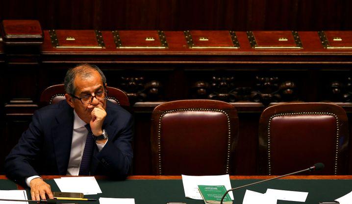 Hat bis Montag Zeit, die Bedenken der EU zu zerstreuen: Italiens Finanzminister Giovanni Tria