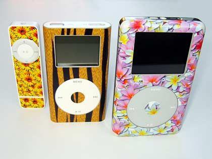 Farbenfoh: Bunte Folie für die iPods von Shuffleskins.de