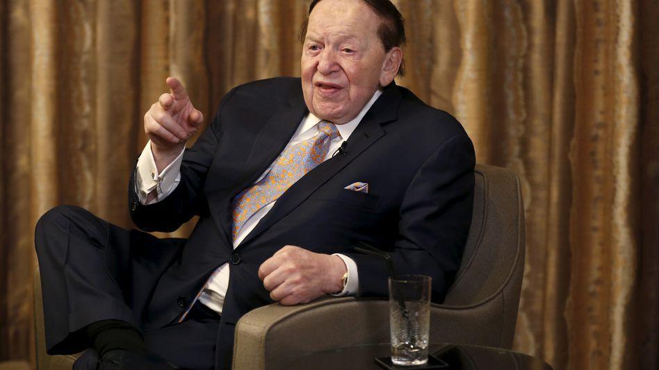 Sheldon Adelson: Der Kasino-Mann steckt Millionen in Anti-Clinton-TV-Spots