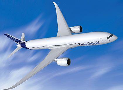 Die Russen sind mit an Bord: Computerbild des A350XWB