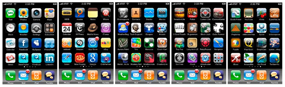 iPhone-Menü: Pokern, Twittern, Spielen - für fast alles gibt es eine Anwendung für Apples Mobiltelefon