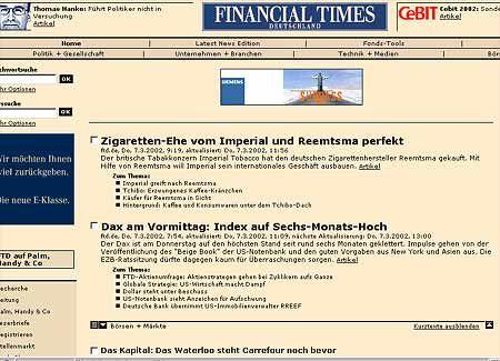Financial Times Deutschland: Ganz vorn an der Content-Front