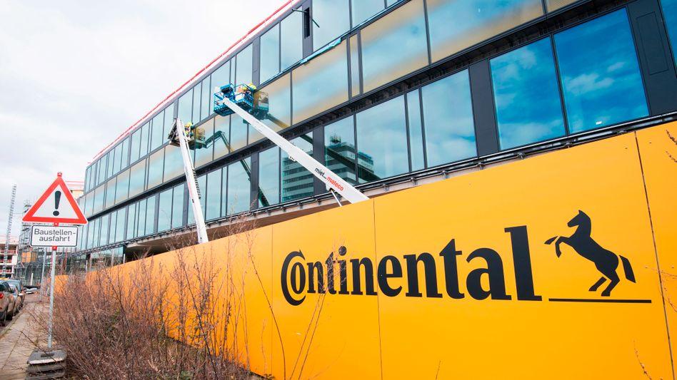 Baustelle der Continental-Zentrale in Hannover: Kursgewinne am Montag
