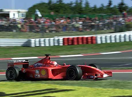 Bringt immer noch am meisten Werbeeinnahmen: Michael Schumacher im Ferrari