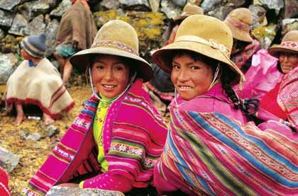 Auf dem Schirm der Gurus: Peruanischer Markt, hier ein traditioneller Markt in der alten Inka-Stadt Cuzco