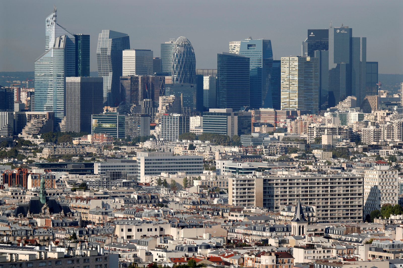 FILE PHOTO: General view of the financial district of La Defense seen from Paris