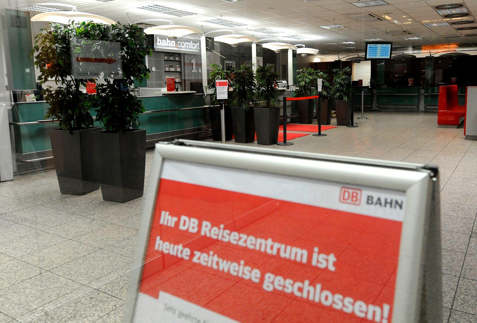 Bahn-Reisezentren geschlossen