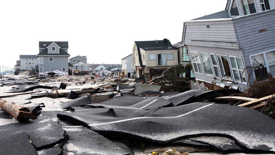 Ausmaß der Verwüstung nach Hurrikan Sandy: Immer mehr Regionen in den USA werden von den Assekuranzen als riskant eingestuft