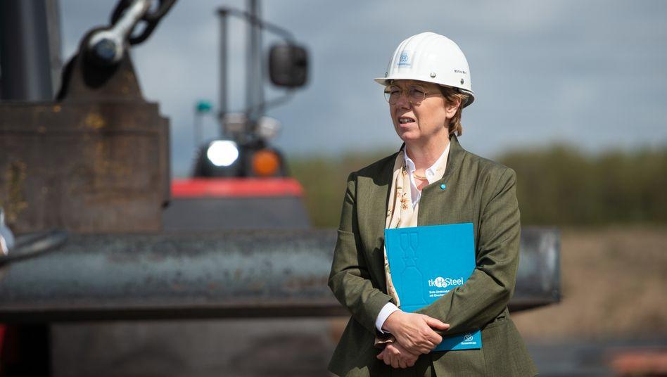 Bereitet die Mitarbeiter auf schmerzhafte Schritte vor: Thyssenkrupp-Chefin Martina Merz