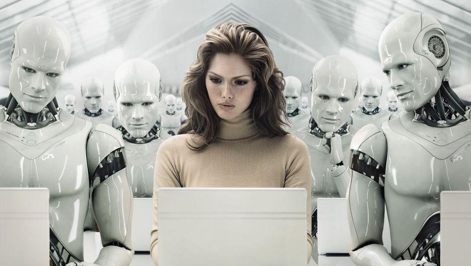 Science-Fiction-Szenario: Maschinen übernehmen mehr Aufgaben von Menschen