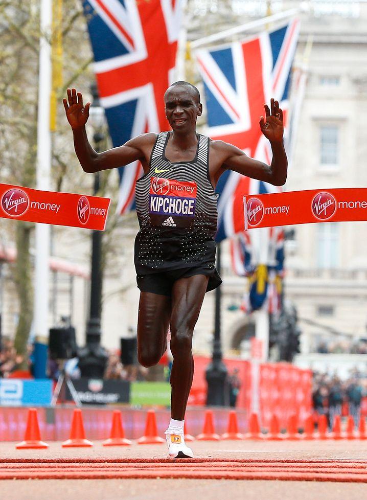 Gewinner des London Marathon 2016: Eliud Kipchoge aus Kenia
