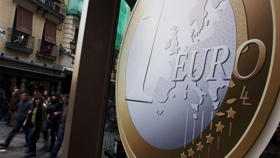 Euro-Symbol in Spanien: Das Vertrauen in die Gemeinschaftswährung sinkt