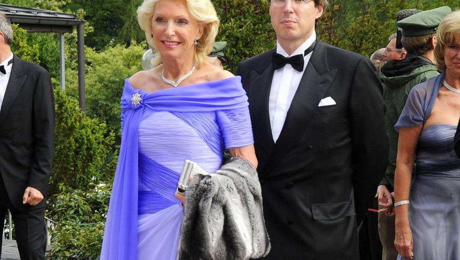 Elisabeth Schaeffler mit Sohn Georg: Wachstumstreiber war die Autosparte