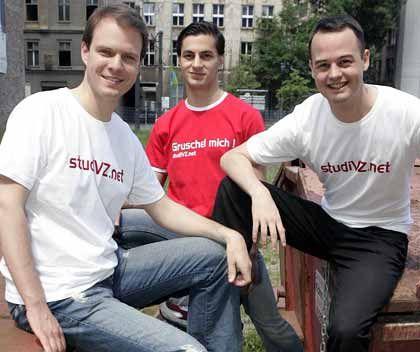Die StudiVZ-Chefs: Michael Brehm, Ehssan Dariani, Dennis Bemmann