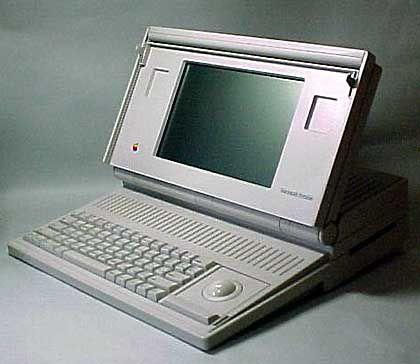 Das Macintosh Portable: Dank Bleisäure-Akku nur für durchtrainierte Anwender empfehlenswert